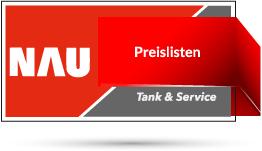 "Rotes Nau Tank & Service Logo mit Schriftzug ""Preisliste"""