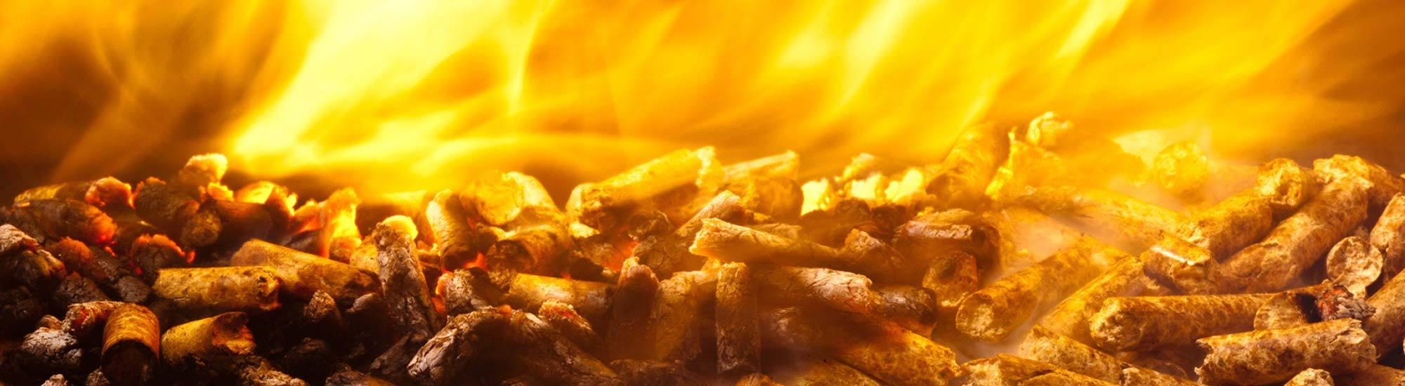 Brennende Pellets