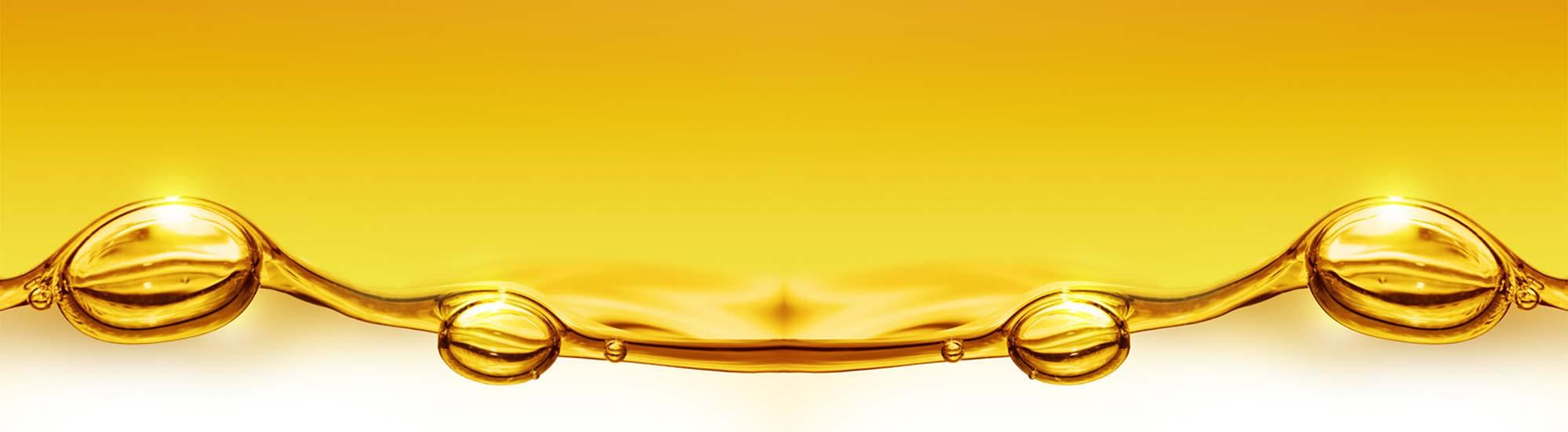 Heizöl in Sonnen gelb mit Luftblasen