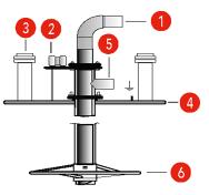 Skizze von Entnahmelanze für Pelletskugeltanks